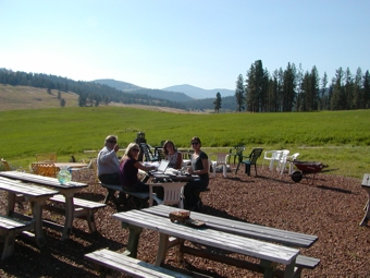 Picnic Area at Eden Valley Guest Ranch
